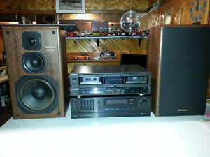 Stereo equipment for sale.