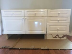 64 inch white bathroom vanity