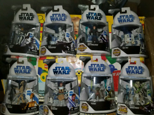 Star Wars The Clone Wars Action Figures Hasbro 2008 MOSC
