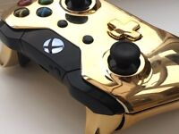 Gold Xbox One Controller Pad