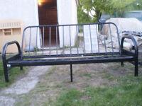 Nice black metal futon frame