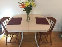 Dining table with leaf and chairs