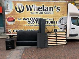 Black leather double ottaman bed £95 matching locker £30