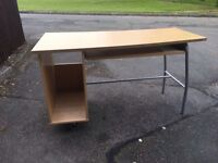 IKEA MODERN DESK METAL LEG ** FREE DELIVERY AVAILABLE **