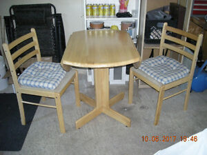 Table & 2 Chairs Solid Pine