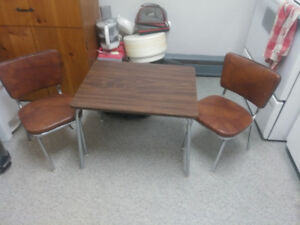 Childs table and chairs