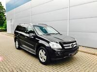 2007 57 reg Mercedes-Benz GL320 3.0CDI auto + BLACK + BLACK LEATHER + SAT NAV +