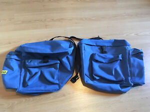 Bicycle saddle bags without frame