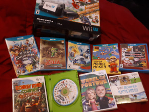 Wii U deluxe bundle with best games.. comes with Mario