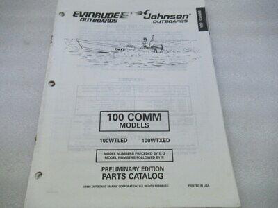 PM9 Evinrude 100 Comm Models Preliminary Edition Parts Catalog Manual P/N 438173