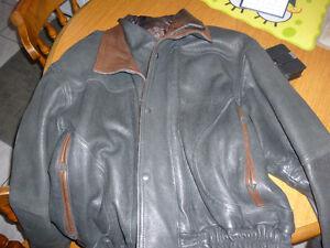 Great/Warm/Stylish Winter Leather Coat Kitchener / Waterloo Kitchener Area image 1