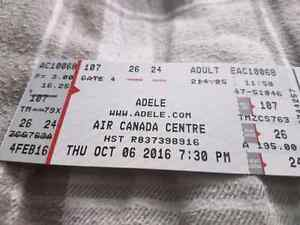 2 Adele tickets. Section 107
