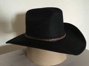 77ff0a687e8 Black Cowboy Hat - Adult Small - Kid s Large   Extra Large