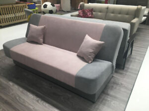 CONDO SIZE SOFABED W/STORAGE - DIFFERENT COLORS - MADE IN EUROPE