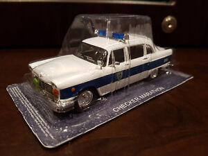 Checker Marathon police car by IXO , die-cast model 1/43