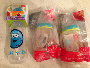 Nuk Baby Bottles (2 count) and Sesame Street Bottle (1 count)