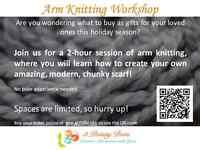 Arm Knitting Workshop in Langstaff Community Centre!