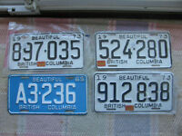 B.C. License Plates..