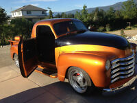 1952 chev truck suiside doors chopped show truck