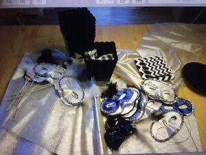 Party Supplies- Black and White Masquerade