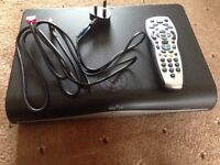 Sky hd box, remote and cable, 500GB HDD