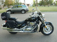 Beautiful Black Suzuki Boulevard