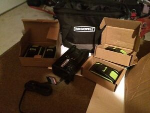 20v Rockwell batteries & Charger