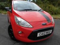 2012 12 FORD KA 1.2 GRAND PRIX II 3D 69 BHP ** RARE EDITION , FULLY LOADED, POU