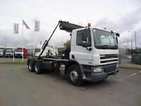 2012 (12) DAF TRUCKS FAT CF75.310 6X4 HOOKLOADER