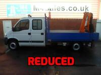 Vauxhall Movano 3500 LWB DROPSIDE TIPPER WITH CRAIN 120PS A/C