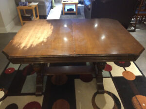 Antique 1940's Oak Dining Set