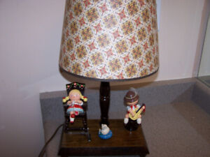 vintage Nursery Originals Portable Lamp Music Box