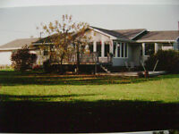 Three bedroom rancher on 15 acres with waterview