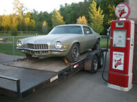 empty trailer for Classic car shipping
