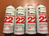4 cans of air conditioner refrigerant 22