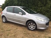 2006 PEUGEOT 307 - VERY LONG MOT - 55 MPG - BRAND NEW TURBO