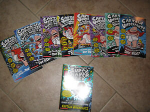 Full series of Captain underpants books by Dave Pikey...