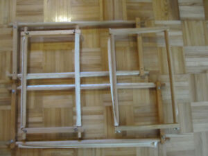 Stretcher bars for rug hooking or needlepoint projects