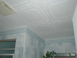 Glue-on ceiling tiles in Canada now!  (special price)!
