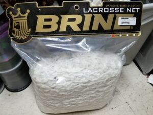BRINE PROFESSIONAL 6.0MM LACROSSE NET WHITE NEW IN BAG