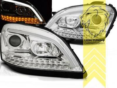 LED Tagfahrlicht Optik Scheinwerfer für Mercedes Benz W164 ML M-Klasse chrom