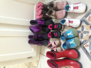 Toddler girl size 7 boots and shoes