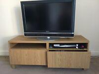 IKEA Besta tv stand oak veneer