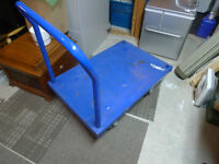 Commercial Blue Flat Utility Cart made in Canada
