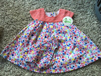 BNWT Mini B Polka Dot Dress and Knickers - 0/3 Months