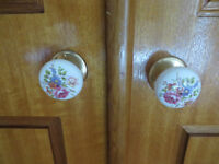 Ceramic Door Knobs (with floral print) from $3-$10