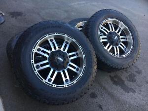 4 mags Ruffino 20'' avec pneu d'été 10 plies Pour Dodge Ram