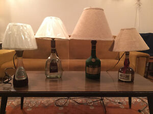 Collector bottle lamps