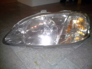 1999 2000 Honda Civic Front headlight Left Drivers side