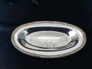 Vintage Haddon Plate Sheffield Reproduction Serving Dish